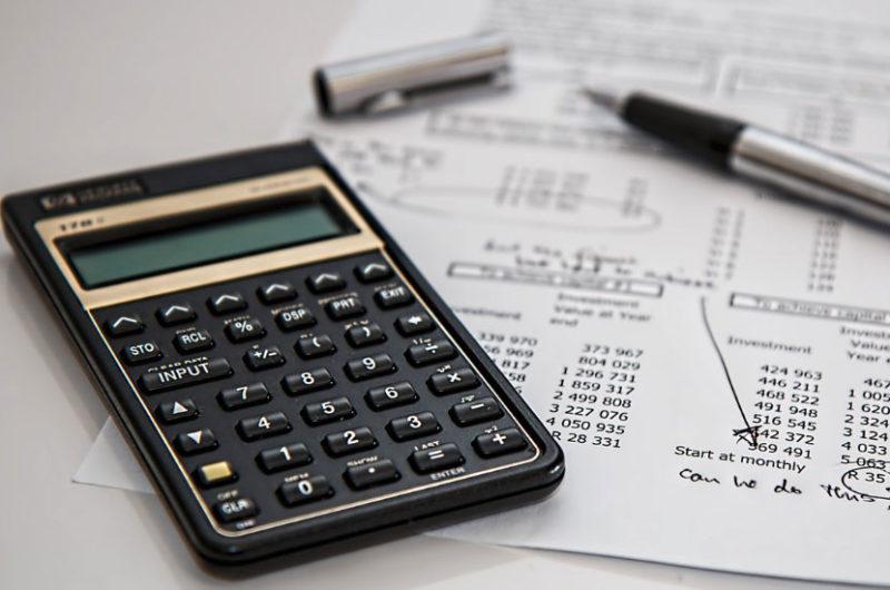 Taxes computation on a table