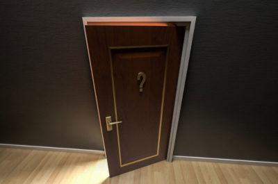 Question Mark on a Door