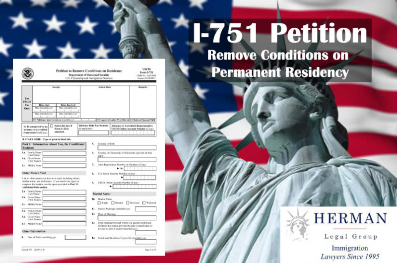I-751 Petition to Remove Conditions on Permanent Residency