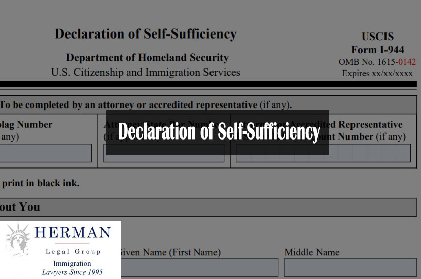 Declaration of Self-Sufficiency