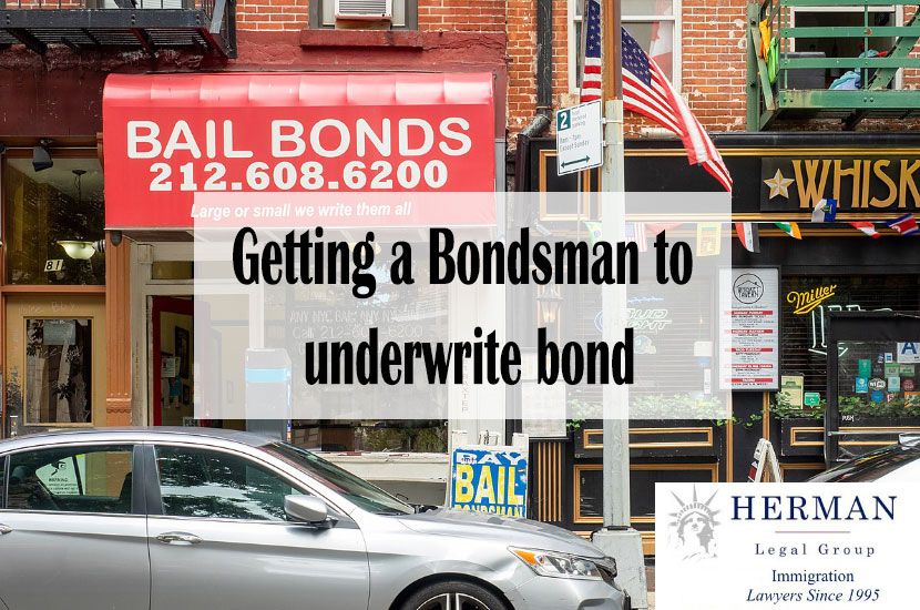 Getting a Bondsman to underwrite bond