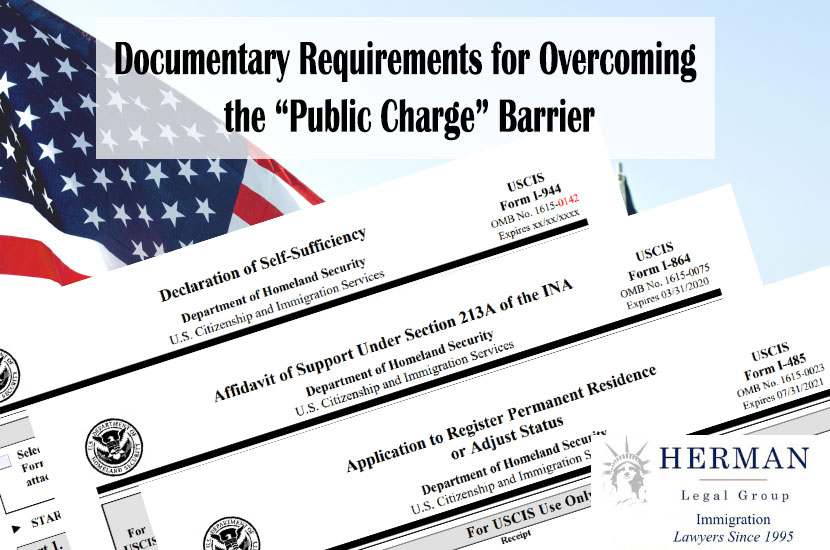 """Documentary Requirements for Overcoming the """"Public Charge"""" Barrier"""
