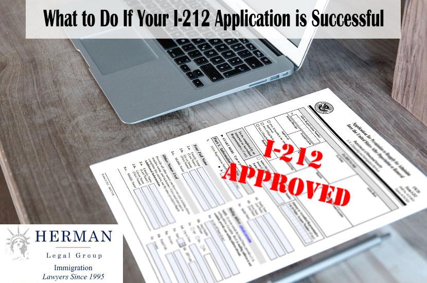 Successful I-212 Application