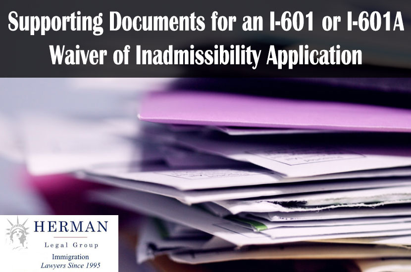 I-601 or I-601A Supporting Documents