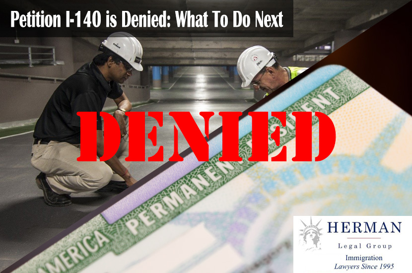 Petition I-140 Denied