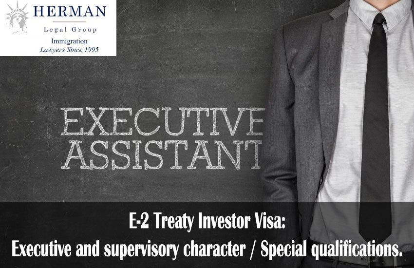 Executive and supervisory character / Special qualifications.