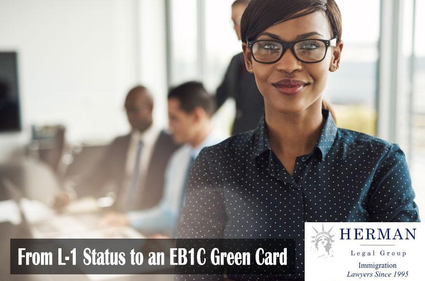 Executive Black Woman on EB-1C Visa
