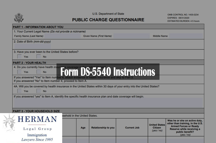 Form DS-5540