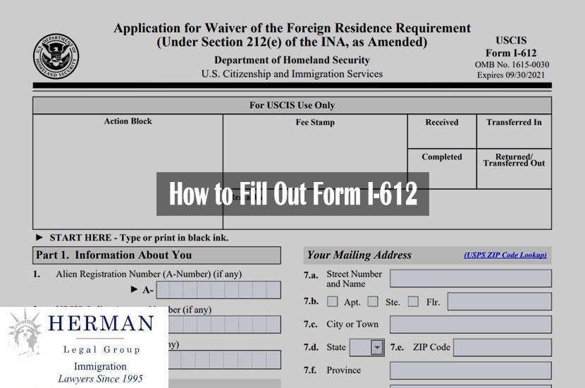 Form I-612