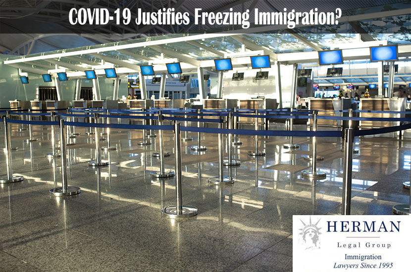 Coronavirus outbreak, empty check-in desks at the airport terminal due to pandemic of coronavirus and airlines suspended flights