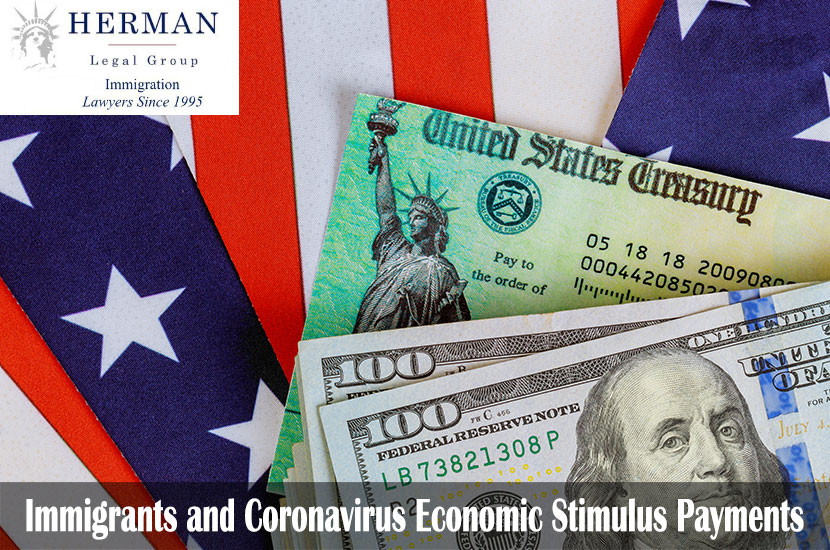 USA dollar cash banknote stimulus economic tax return check with US flag