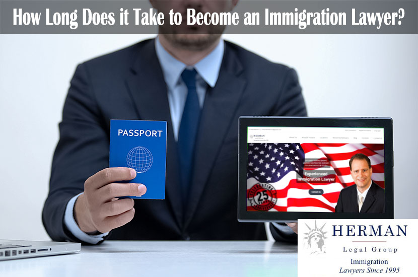 Migration agent holding passport and tablet