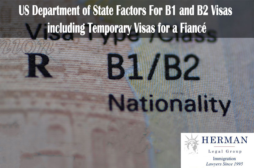 Fragment of Stamp Business Travel B1/B2 Visa of USA