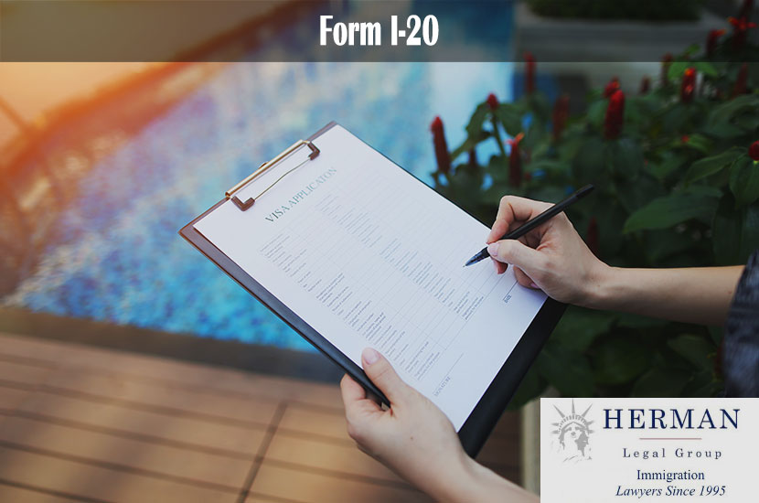 woman's hands sign or fill out visa application form